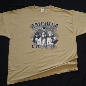 Native American Tshirt America Love It Men's Tee